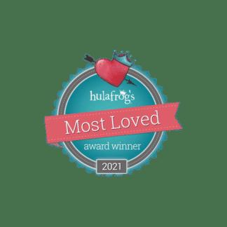 hulafrog most loved 2021 badge