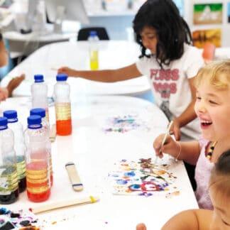 image of children painting