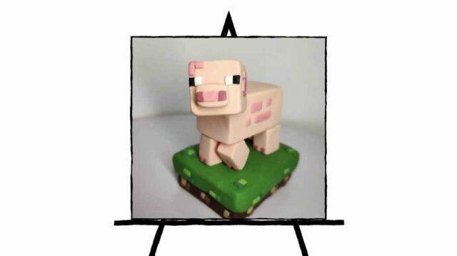 Pig Minecraft clay sculpting