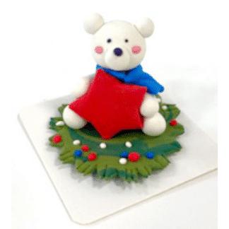 holiday bear clay sculpture